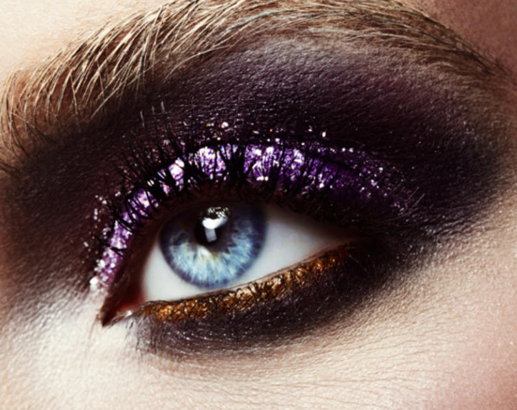 Cooler Look: Glitzer-Make-up für Silvester