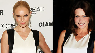 Carla Bruni vs. Kate Bosworth: Zwei Stars, ein Kleid