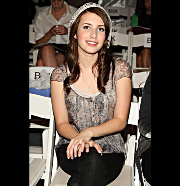 Emma-Roberts-attends-Brian-Reyes-Spring-2009