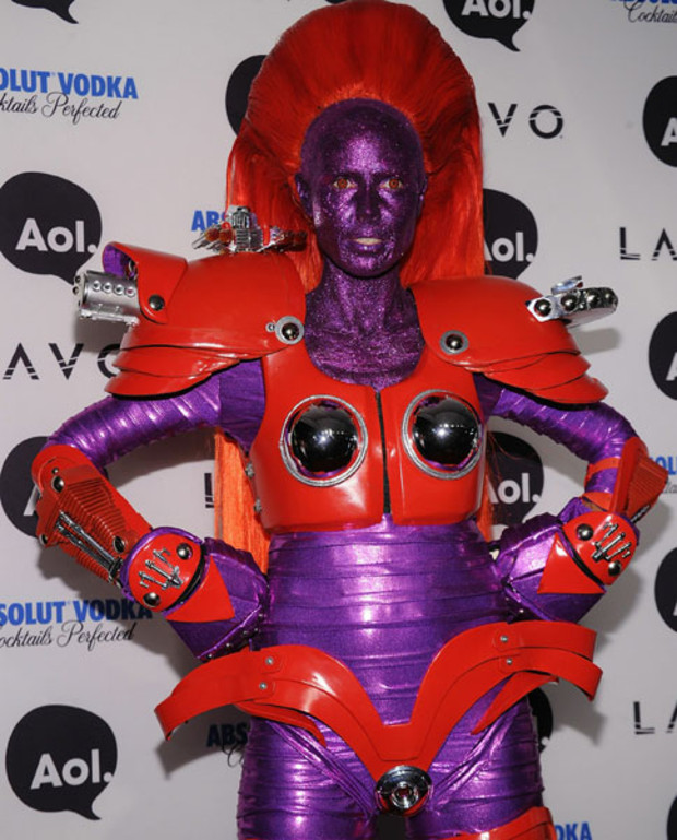 Heidi Klum Halloween Party 2010 AFP