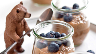 Haselnussiger Choco-Chia-Pudding